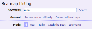 osu! search