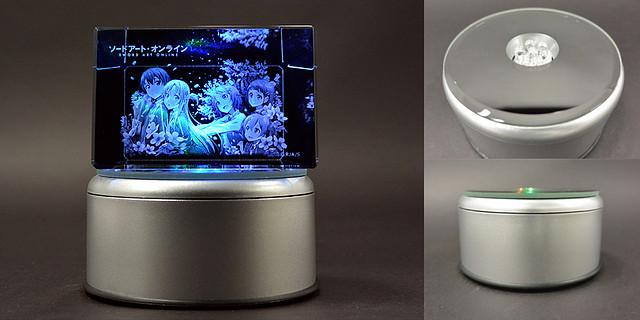 LED台座/3Dクリスタルアート用